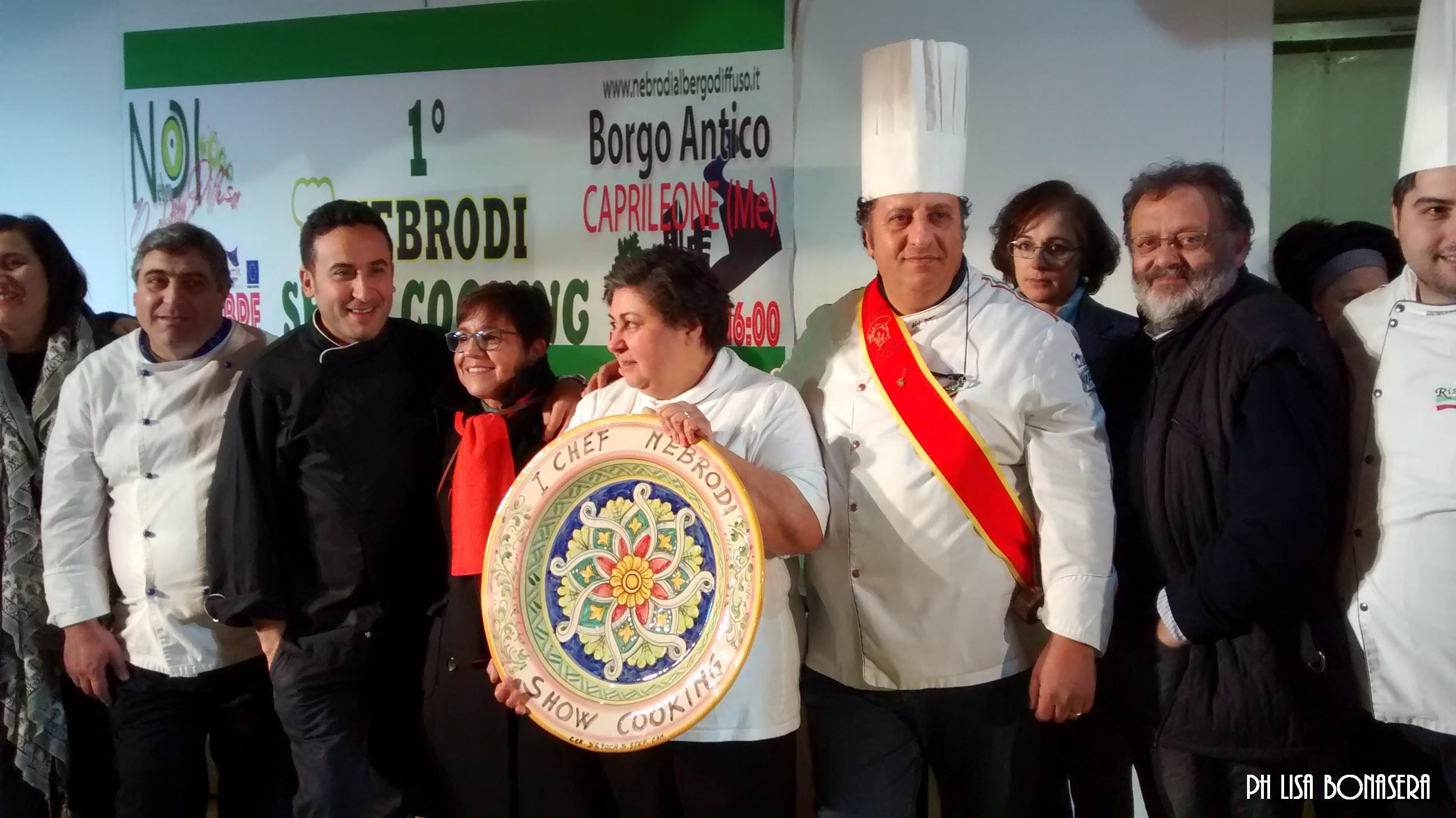 Foto premiazione Nebrodi Showcooking