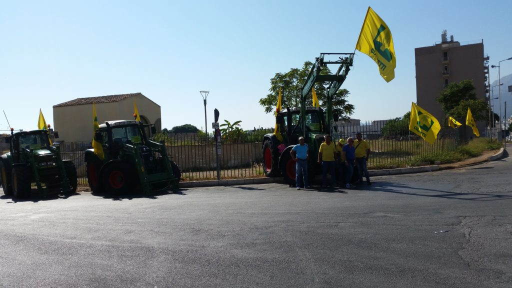 manifestazione Coldiretti, trattori