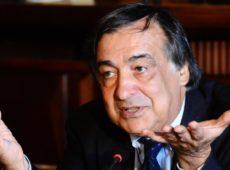Il sindaco di Palermo Leoluca Orlando in una foto d'archivio. ANSA/MIKE PALAZZOTTO