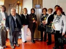 La delegazione delle donne Innerine assieme a padre Silvio Rotondo