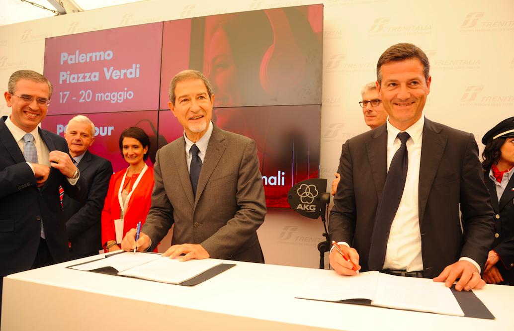 Musumeci firma contratto con Trenitalia: 43 nuovi treni in Sicilia