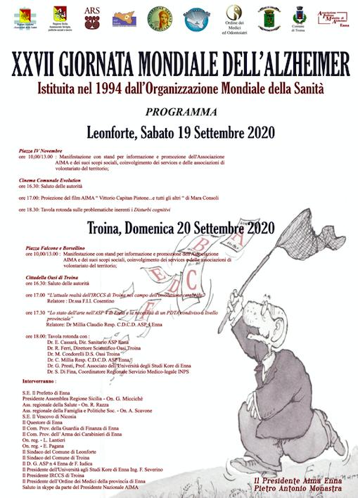 A Leonforte e Troina due giorni di confronto sull'Alzheimer